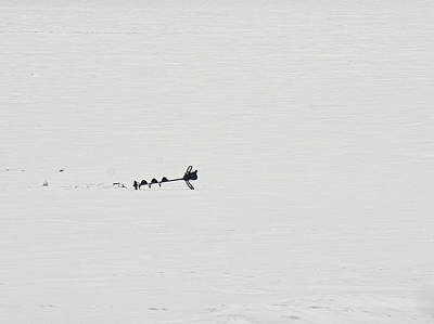 Photograph - Ice Fishing Auger - Madison - Wisconsin  by Steven Ralser