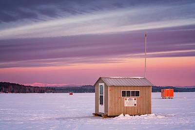 Photograph - Ice Shacks On Long Lake by Darylann Leonard Photography