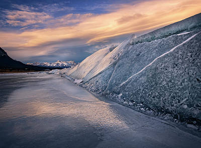 Photograph - Ice Sheets On Abraham Lake by Dan Jurak