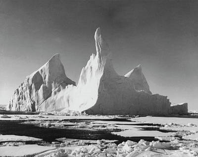 Photograph - Iceberg Floating On Water by Superstock
