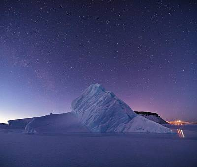 Painting - Iceberg In North Star Bay, Greenland. by Celestial Images
