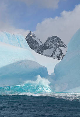 Photograph - Iceberg Sculpted By Waves, Sea by Eastcott Momatiuk