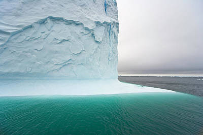 Photograph - Iceberg With Steep Walls,  Antarctic by Eastcott Momatiuk