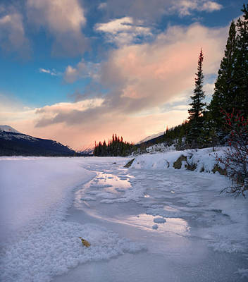 Photograph - Icefields Parkway Winter Morning by Dan Jurak