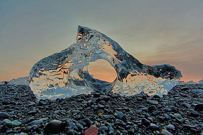 Photograph - Iceland Diamond Beach Abstract  Ice by Nathan Bush
