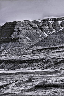 Photograph - Iceland Landscape # 14 - B And W by Allen Beatty
