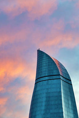 Photograph - Flame Towers At Sunset by Fabrizio Troiani