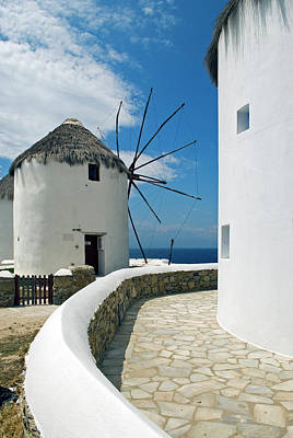 Mykonos Photograph - Iconic Windmills Of Mykonos Once Ground by Danita Delimont