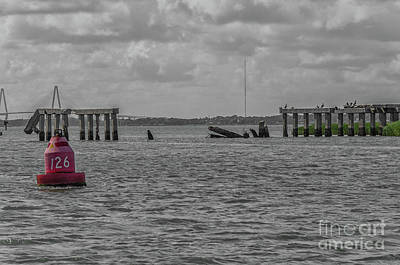 Photograph - Icw Navigational Bouy 126  by Dale Powell