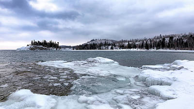Photograph - Icy Lake Superior by Susan Rissi Tregoning