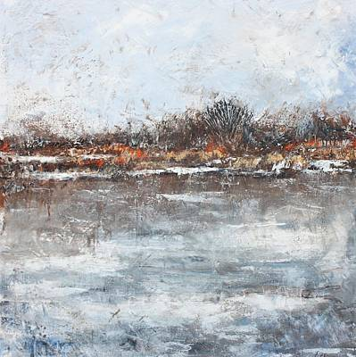 Mixed Media - Icy Stillness by Anne Stine