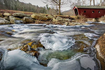 Photograph - Icy Stream by Bill Wakeley