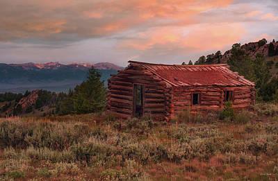 Photograph - Idaho Pioneer Historical Cabin by Leland D Howard