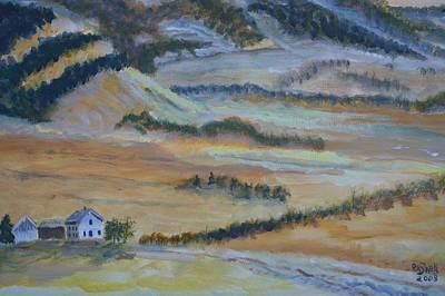 Painting - Idaho-utah Border by Roger Snell