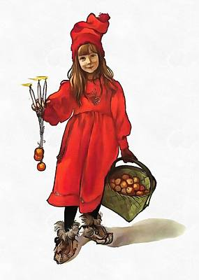 Iduna And Her Magic Apples Art Print