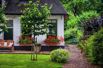 Photograph - Idyllic Giethoorn Cottages. The Netherlands 1 by Jenny Rainbow
