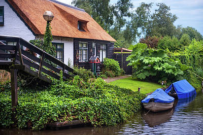 Photograph - Idyllic Giethoorn Cottages. The Netherlands 2 by Jenny Rainbow