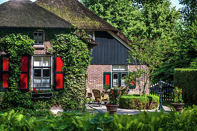 Photograph - Idyllic Giethoorn Cottages. The Netherlands 5 by Jenny Rainbow