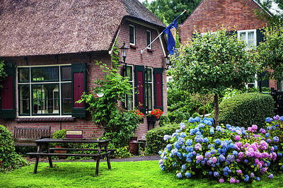 Photograph - Idyllic Giethoorn Cottages. The Netherlands by Jenny Rainbow