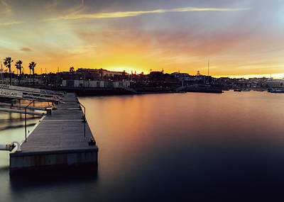 Photograph - Idyllic Sunset At Marina In Cascais, Portugal by Alexandre Rotenberg