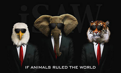 Digital Art - If Animals Ruled The World by ISAW Company