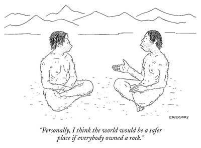 Drawing - If Everybody Owned A Rock by Alex Gregory