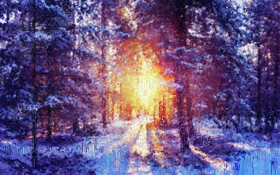 Painting - If Winter Comes - 05 by Andrea Mazzocchetti