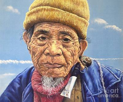 Painting - Ifugao Tribesman by Christopher Shellhammer