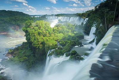 Igauzu Falls In Argentina Art Print by Grant Ordelheide