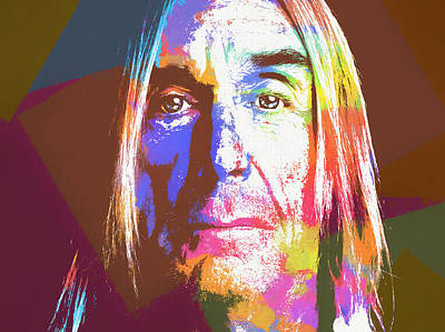 Painting - Iggy Pop by Dan Sproul