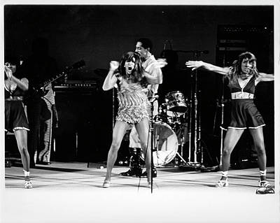 Photograph - Ike & Tina Turner At The Greek by Michael Ochs Archives