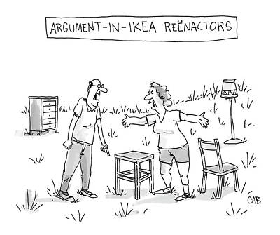 Drawing - Ikea Reenactors by Adam Cooper and Mat Barton