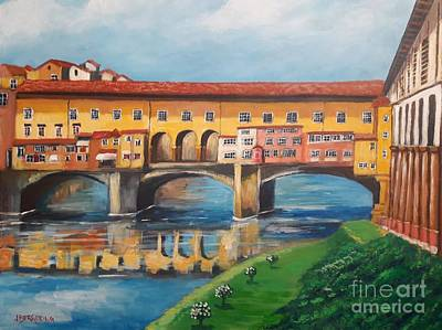 Painting - Il Ponte Vecchio by Jean Pierre Bergoeing