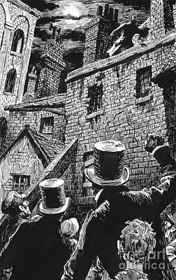 Drawing - Illustration For Oliver Twist By Charles Dickens  by English School