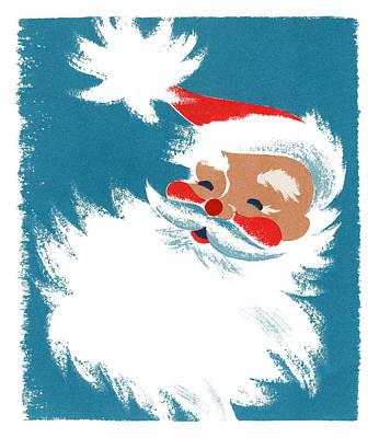 Art Prints Digital Art - Illustration Of Santa Claus by Graphicaartis