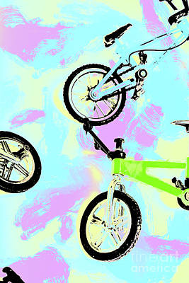 Watercolour Photograph - Illustrative Bike Pastel by Jorgo Photography - Wall Art Gallery