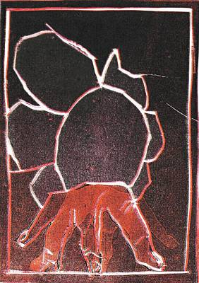 Relief - Image 23 I Was Born In A Mine Woodcut by Artist Dot