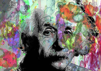 Painting - Imagination Is Greater Than Intelligence By Robert R Splashy Art by Robert R Splashy Art Abstract Paintings