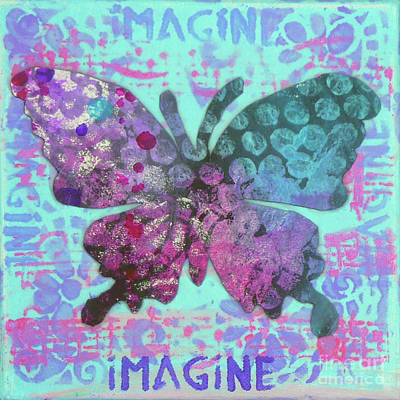 Mixed Media - Imagine Butterfly 2 by Lisa Crisman