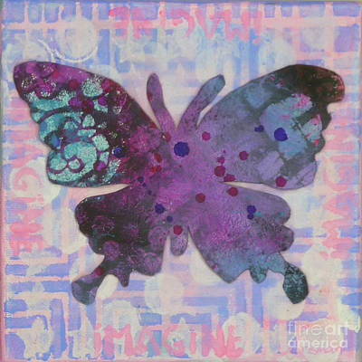 Mixed Media - Imagine Butterfly by Lisa Crisman