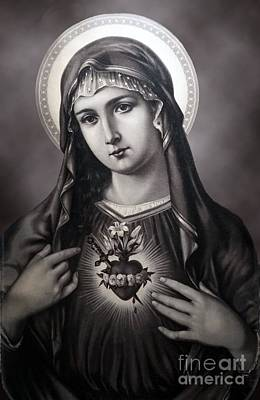 Photograph - Immaculate Heart Of Mary by Sacred Heart Holdings LLC