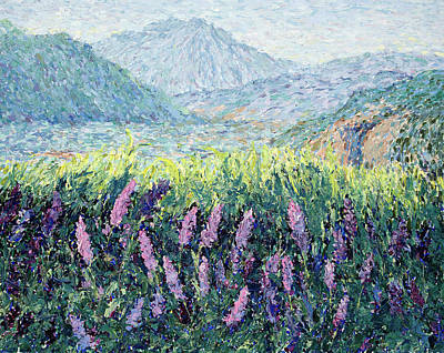 Painting - Lavender Impasto  by Mary Giacomini