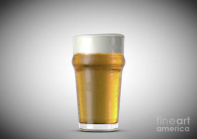 Beer Royalty-Free and Rights-Managed Images - Imperial Pint Beer by Allan Swart