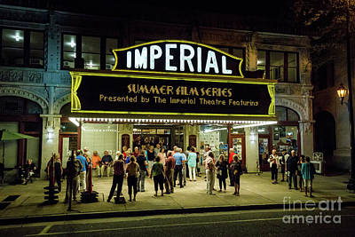 Photograph - Imperial Theater At Night - Augusta Ga by Sanjeev Singhal