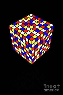 Digital Art - Impossible Puzzle Cube by Clayton Bastiani