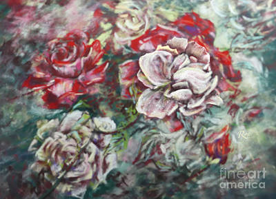 Painting - Impressionist Rose Garden In July by Ryn Shell