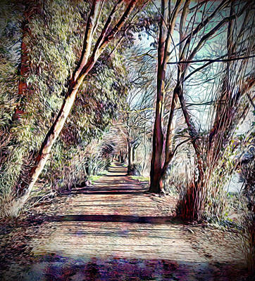 Digital Art - Impressionist Style - Riverside Walk by Chris Gill