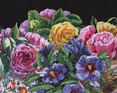 Painting - Impressionistic Flowers Garden by Irina Sztukowski