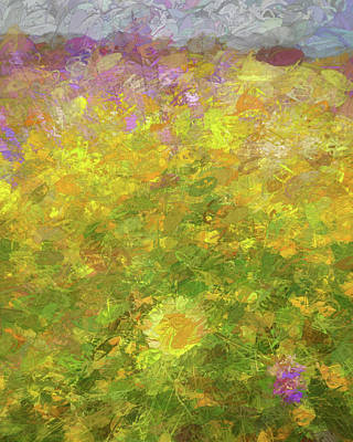 Mixed Media - Impressions Of A Desert Daisy by Peter Tellone
