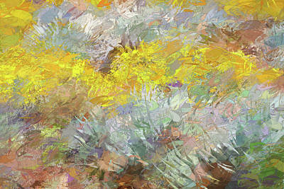 Mixed Media Royalty Free Images - Impressions   Of Agave and Brittlebush Royalty-Free Image by Peter Tellone
